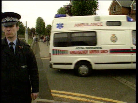 diana princess of wales collection t03069110 berkshire royal berkshire hospital ambulance carrying prince william who was injured in an accident at... - leaving hospital stock videos & royalty-free footage