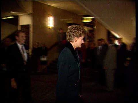 Part 2 'Dianagate' tapes and separation/ Diana Princess of Wales speech about press intrusion SOT / Red Cross landmines visit/ visits cancer ward in...