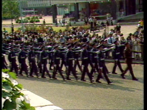 Part 2 Prince Charles and Diana Princess of Wales wedding preparations and crowds gathering / Queen Elizabeth II and Prince Philip Duke of Edinburgh...