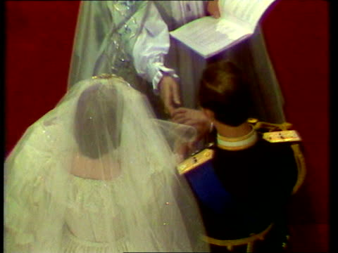 Part 2 Royal wedding ceremony crowds and Royals on balcony of Buckingham Palace / Honeymoon in Gibraltar / Prince Charles and Diana press photocall...