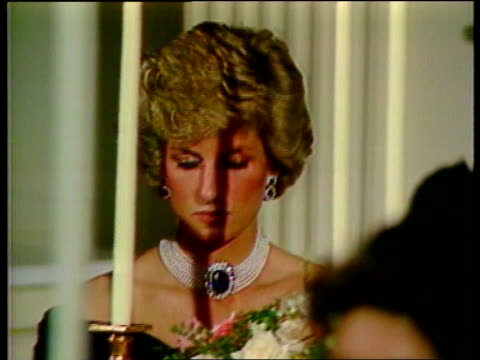 diana, princess of wales death: us reactions; lib washington: white house: ronald reagan's voice in b/g) cms john travolta seated in audience - prinzessin diana von wales stock-videos und b-roll-filmmaterial