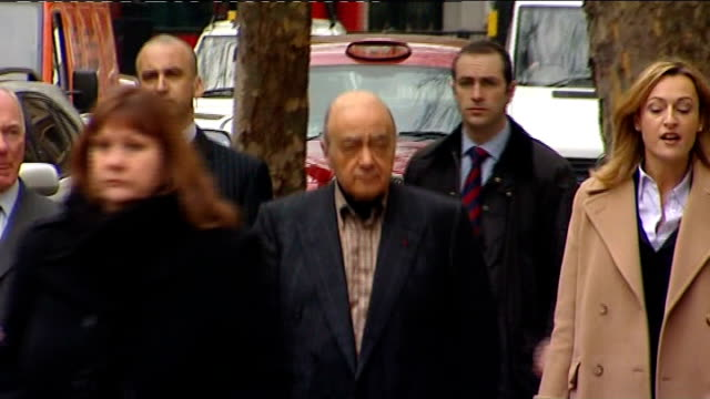jury rules unlawful killing Mohamed Al Fayed/Lady Sarah McCorquodale arrive at court ENGLAND London The Strand Royal Courts of Justice EXT Harrods...