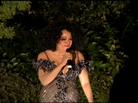 Diana Ross sings 'I will survive' at the Cartier hosts the Third Annual LOVEDAY celebration at Los Angeles California