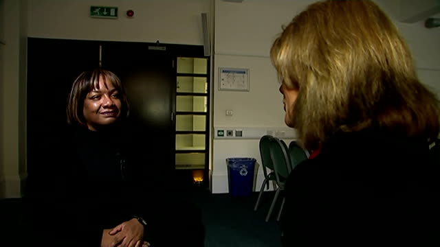 diane abbott announces she will run for london mayor hammersmith int cutaways of diane abbott during interview - itv london tonight weekend stock videos & royalty-free footage