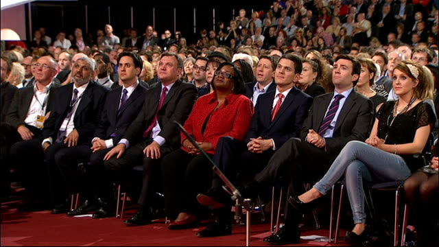 Diane Abbott criticised for Twitter comment about 'white people' LIB Manchester Central **Dutt interview overlaid SOT** Abbott sitting in row with Ed...