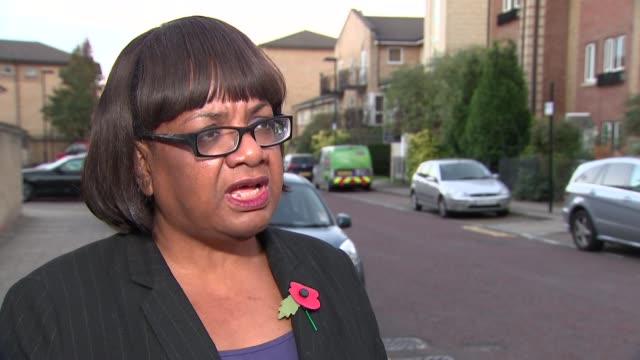 london ext diane abbott mp interview sot re sexual harassment in westminster - diane abbott stock videos & royalty-free footage