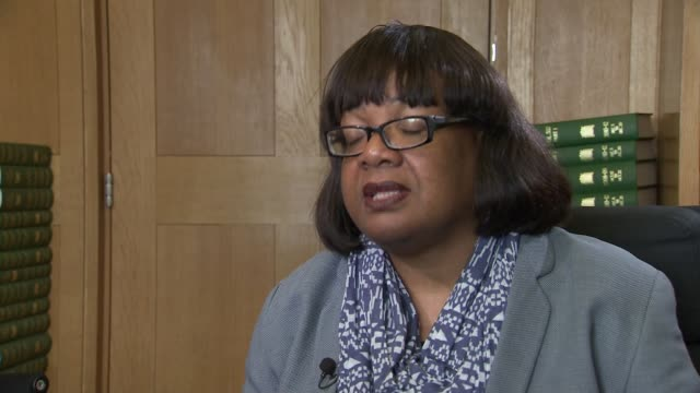 diane abbott talks of the abuse she has experienced england london westminster int diane abbott mp interview sot interview contains examples of abuse... - diane abbott stock videos & royalty-free footage