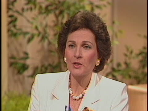 diane crowley, one of the advice columnists replacing ann landers, speaks of her background as her co-columnist jeffrey zaslow sits near by. - columnist stock videos & royalty-free footage