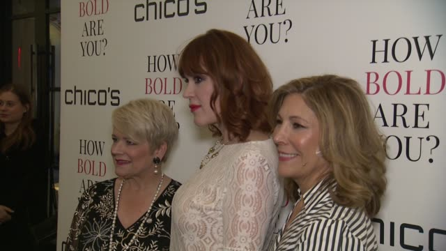 diane ellis, molly ringwald and lesley jane seymour at chico's #howboldareyou launch event at joe's pub on march 12, 2018 in new york city. - molly ringwald stock videos & royalty-free footage