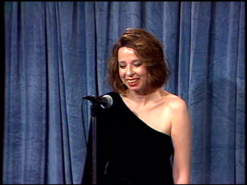 Diane English at the 1989 Emmy Awards Backstage at the Pasadena Civic Auditorium in Pasadena California on September 17 1989