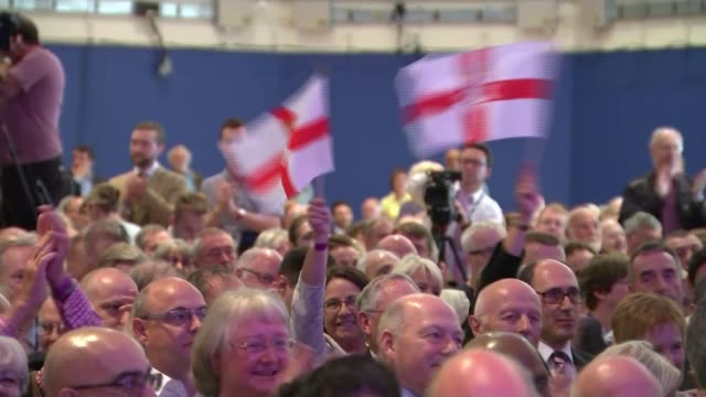 stockvideo's en b-roll-footage met diane james elected new leader of ukip diane james mep speech sot and if you're watching tv this afternoon you'll be watching the opposition party in... - artikel