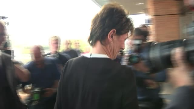 diane james elected new leader of ukip ext diane james along and entering building reporter in audience - diane james politik stock-videos und b-roll-filmmaterial
