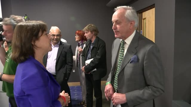 diane james elected new leader of ukip neil hamilton am set up shot with reporter / interview sot if she had a look what's going on in the labour... - diane james politik stock-videos und b-roll-filmmaterial