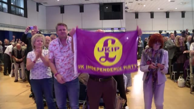 diane james elected new leader of ukip ukip delegates in audience - diane james politik stock-videos und b-roll-filmmaterial