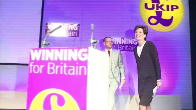 diane james resigns as ukip leader after 18 days dorest bournemouth int various of diane james along at party conference after being elected sand... - diane james politik stock-videos und b-roll-filmmaterial