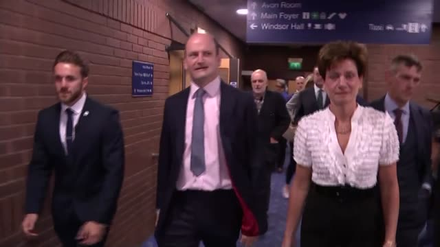 diane james resigns as ukip leader after 18 days t17091608 / 1792016 bournemouth int james along with carswell and others at the ukip conference... - diane james politik stock-videos und b-roll-filmmaterial