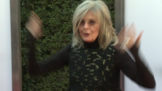 diane keaton and jessie nelson at the park at the grove on november 12 2015 in los angeles california - diane keaton stock videos & royalty-free footage