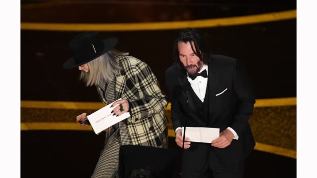 diane keaton and keanu reeves speak onstage during the 92nd annual academy awards at dolby theatre on february 09 2020 in hollywood california - diane keaton stock videos & royalty-free footage