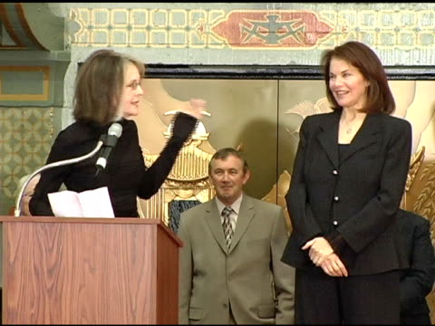 diane keaton and sherry lansing at the sherry lansing hand and footprint ceremony at grauman's chinese theatre in hollywood, california on february... - ランシング点の映像素材/bロール