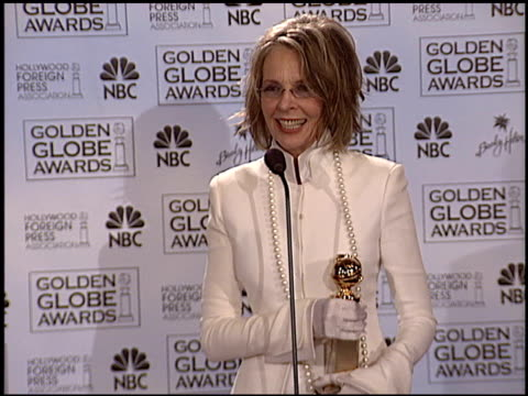 diane keaton at the 2004 golden globe awards at the beverly hilton in beverly hills california on january 25 2004 - diane keaton stock videos & royalty-free footage
