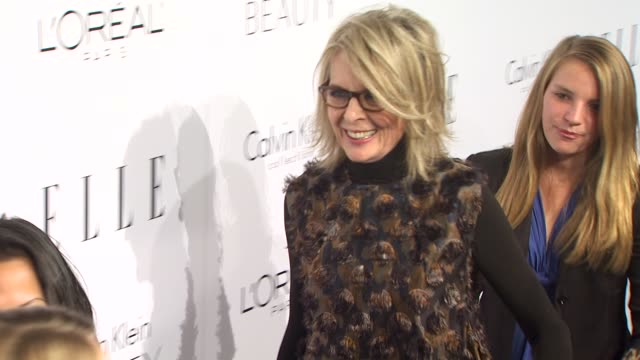 diane keaton at the elle magazine's 17th annual women in hollywood celebration at beverly hills ca - diane keaton stock videos & royalty-free footage