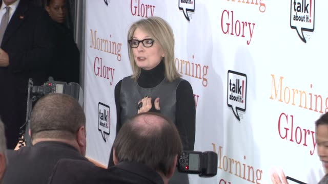 diane keaton at the world premiere of 'morning glory' in support of the epilepsy awareness web site talkaboutitorg at new york ny - diane keaton stock videos & royalty-free footage