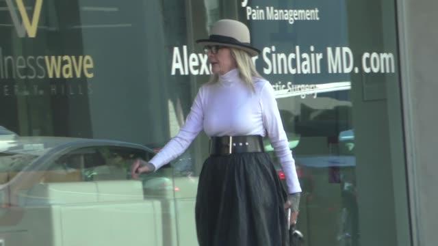 diane keaton shopping in beverly hills in celebrity sightings in los angeles - diane keaton stock videos & royalty-free footage