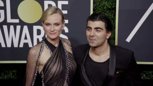 Diane Kruger and Fatih Akin at The Beverly Hilton Hotel on January 07 2018 in Beverly Hills California