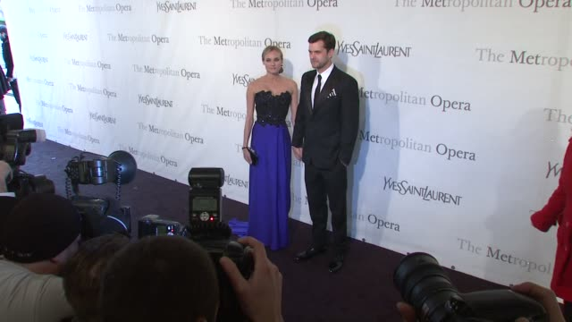 Diane Kruger and Joshua Jackson at the The Metropolitan Opera's 125th Anniversary Gala at New York NY