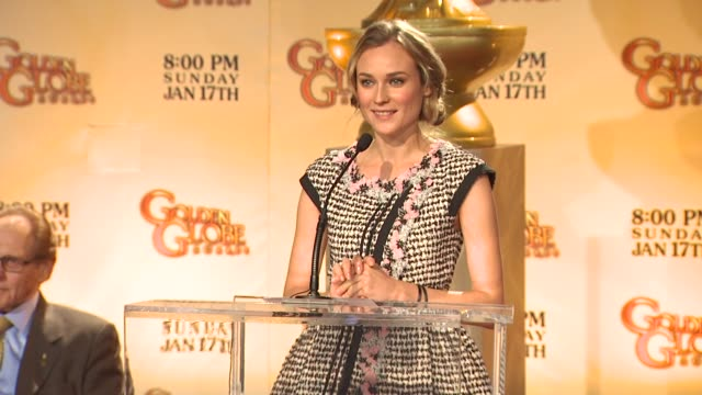 diane kruger announces the 67th annual golden globe awards nominations at the 67th annual golden globe awards nominations announcement at beverly... - nomination stock videos & royalty-free footage