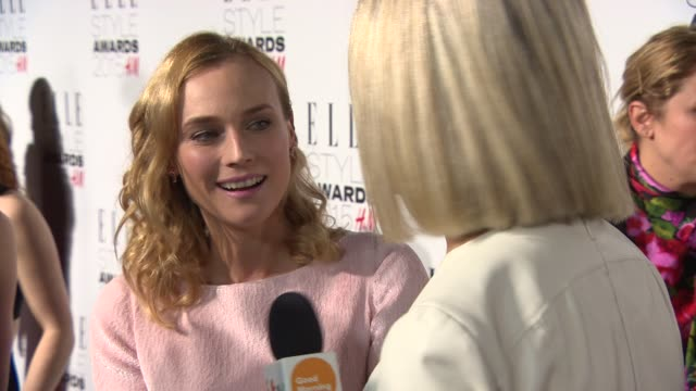 diane kruger at elle style awards on february 24 2015 in london england - zigzag stock videos & royalty-free footage