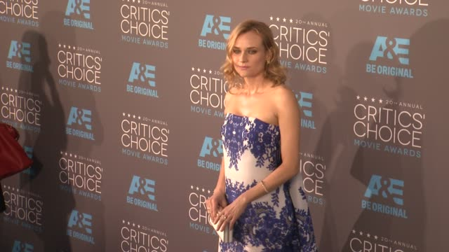 diane kruger at the 20th annual critics' choice awards at hollywood palladium on january 15, 2015 in los angeles, california. - critics' choice movie awards stock videos & royalty-free footage