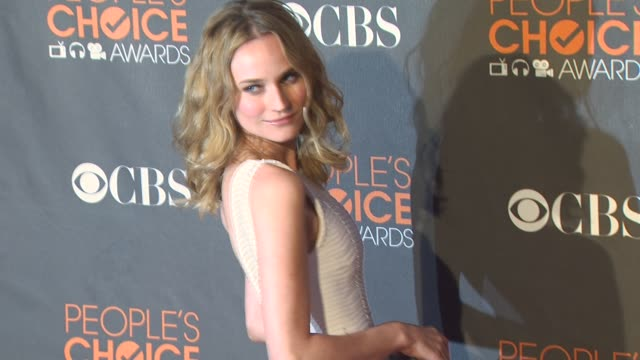 diane kruger at the 36th annual people's choice awards at los angeles ca. - people's choice awards stock videos & royalty-free footage