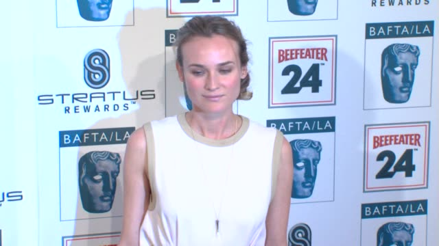 diane kruger at the bafta la's 16th annual awards season tea party at beverly hills ca - bafta la tea party stock videos and b-roll footage