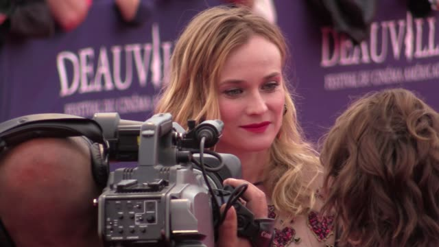 Diane Kruger attending the The Infiltrator red carpet premiere at the 2016 Deauville Film Festival opening ceremony on September 02 2016 in Deauville...