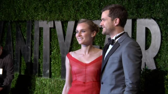 diane kruger, joshua jackson at the 2010 vanity fair oscar party hosted by graydon carter at west hollywood ca. - vanity fair oscar party stock videos & royalty-free footage