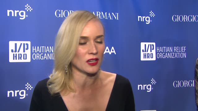 "diane kruger on helping sean penn's cause through the years, and her thoughts on awards season at 3rd annual sean penn & friends ""help haiti home""... - montage beverly hills stock videos & royalty-free footage"