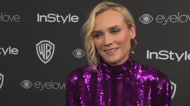 INTERVIEW Diane Kruger on her favorite party of the night at 18th Annual InStyle And Warner Bros Pictures Golden Globes AfterParty at The Beverly...