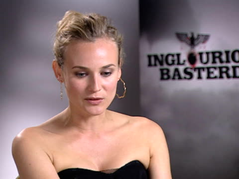 diane kruger on the challenge of playing her character's vulnerability and glamour. at the cannes film festival 2009: inglourious basterds interviews... - vulnerability stock videos & royalty-free footage