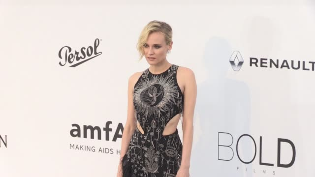 Diane Kruger on the red carpet at the amfAR Gala during the Cannes Film Festival 2017 Thursday 25 May 2017 Cannes France