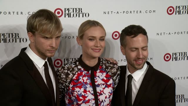 Diane Kruger Peter Pilotto and Christopher De Vos at Peter Pilotto For Target Launch Event at Gotham Hall on February 6 2014 in New York City