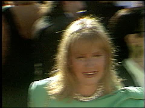 diane ladd at the 1993 emmy awards entrances at the pasadena civic auditorium in pasadena, california on september 19, 1993. - パサディナ公会堂点の映像素材/bロール