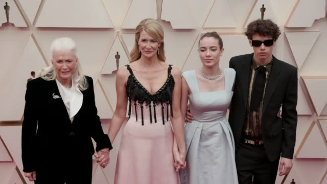 diane ladd, laura dern, ellery harper and jaya harper at the 92nd annual academy awards at dolby theatre on february 09, 2020 in hollywood,... - laura dern stock videos & royalty-free footage