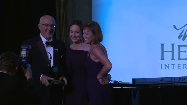 diane lane accepts her award heifer international hosts 3rd annual beyond hunger a place at the table gala at montage beverly hills on august 22 2014... - montage beverly hills video stock e b–roll