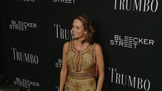 diane lane at the trumbo los angeles premiere at the academy of motion picture arts and sciences on october 27 2015 in beverly hills california - academy of motion picture arts and sciences stock-videos und b-roll-filmmaterial