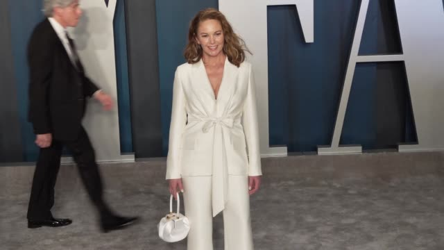 diane lane at vanity fair oscar party at wallis annenberg center for the performing arts on february 09 2020 in beverly hills california - vanity fair oscarparty stock-videos und b-roll-filmmaterial