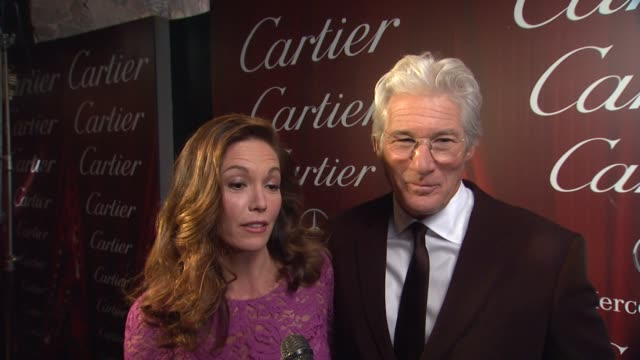 interview diane lane richard gere on richard receiving the chairman's award why diane feels he's deserving of the honor what they appreciate about... - 光栄点の映像素材/bロール