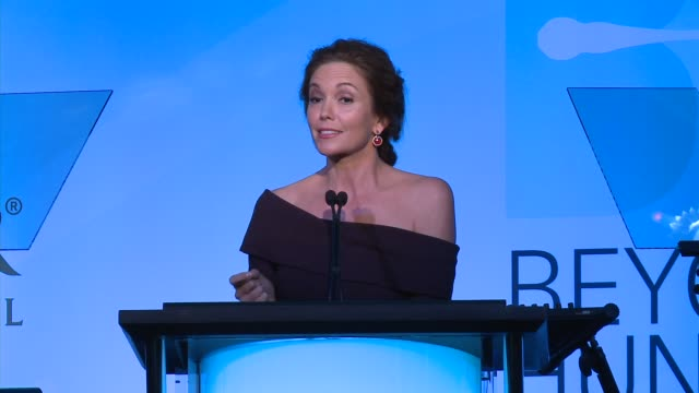 diane lane's acceptance speech heifer international hosts 3rd annual beyond hunger a place at the table gala at montage beverly hills on august 22... - montage beverly hills stock videos & royalty-free footage
