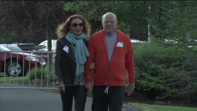 diane von furstenberg, chairman and founder of diane von furstenberg studio lp, left, and barry diller, chairman and chief executive officer of... - barry diller stock videos & royalty-free footage