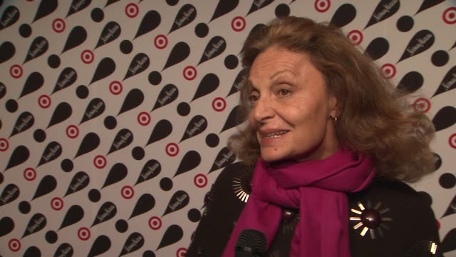 diane von furstenberg on what she designed for the target and neiman marcus collaboration at target neiman marcus holiday collection launch event... - neiman marcus stock videos & royalty-free footage